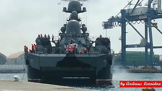 SAMUM-Russian Guided Missile Corvette in Limassol Cyprus 23/05/15