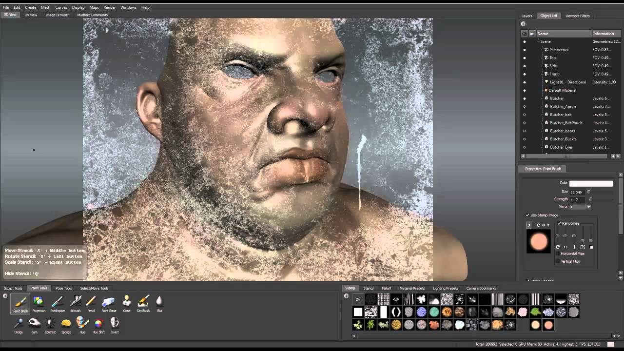 Texturing Painting on Mudbox Part 1mp4 YouTube