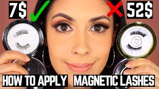 How to apply Magnetic Lashes   7$ Magnetic Lashes vs 52$ Magnetic Lashes Comparison