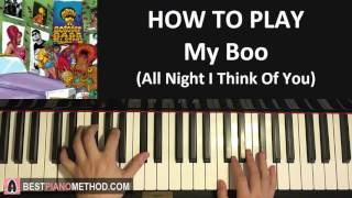 Скачать HOW TO PLAY Ghost Town DJ My Boo At Night I Think Of You MEME Piano Tutorial Lesson