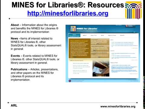 MINES for Libraries Webcast
