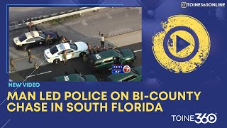Breaking News: High Speed Chase Happening Miami-Dade County