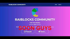 GOOD NEWS FAUCET RAIBLOCKS COMMUNITY UNOFFICIAL IS COMING