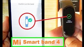 Mi Smart Band 4 -  How To Setup And Unboxing   How To Connect Mi Band 4 With Phone # Mi Smart Band 4