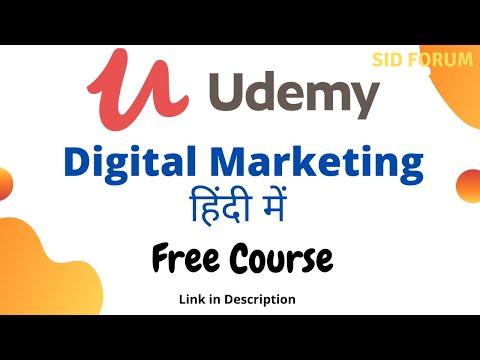 udemy digital marketing course in hindi