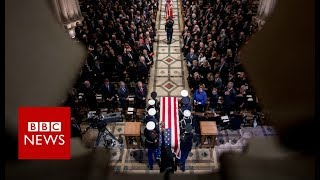 George HW Bush Funeral: Ceremony begins- BBC News
