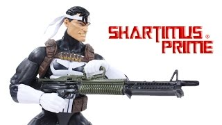 marvel legends punisher 2016 jim lee walgreens exclusive comic book toy action figure review