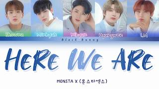 Gambar cover MONSTA X (몬스타엑스) - Here We Are (with TTG) (Color Coded Lyrics Han/Rom/Eng/가사)
