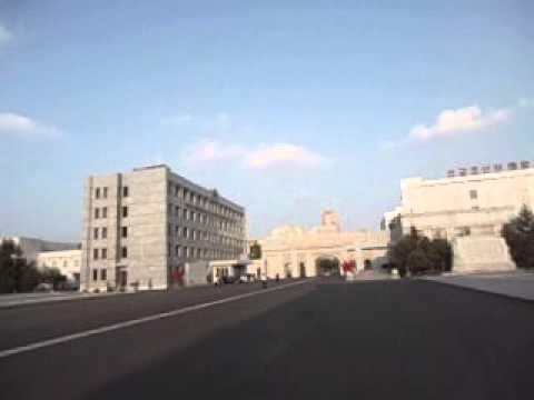 Monuments and Murals near Korean Art Gallery   Pyongyang   North Korea   September 2013