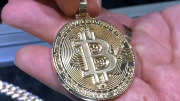 Custom Bitcoin in Gold Crypto Cryptocurrency Blockchain