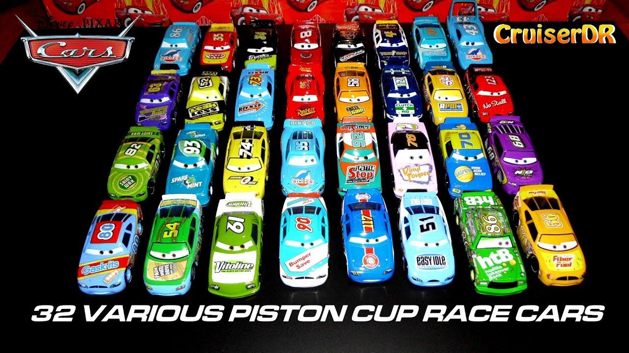 Disney Pixar Cars Various Piston Cup Race Cars Mattel
