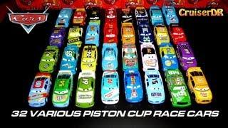 Disney Pixar Cars 32 Various Piston Cup Race Cars 1:55 Mattel