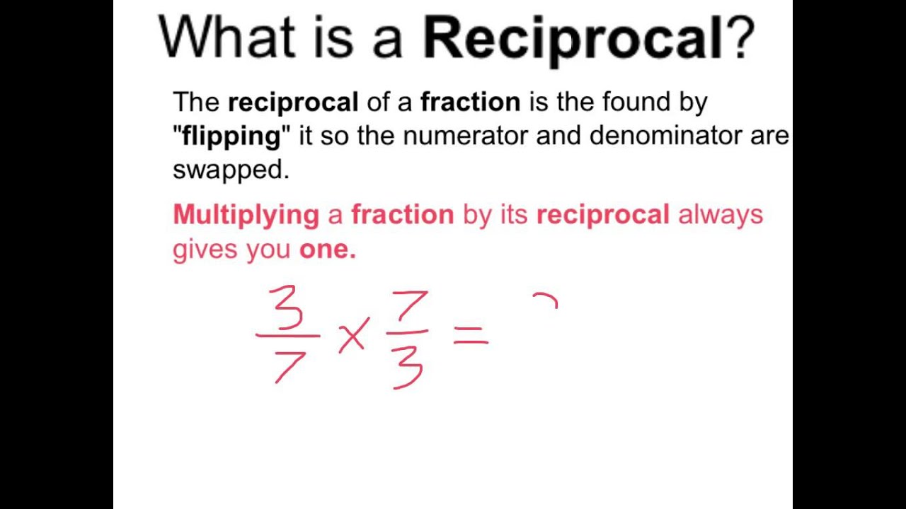 What Is A Reciprocal Youtube