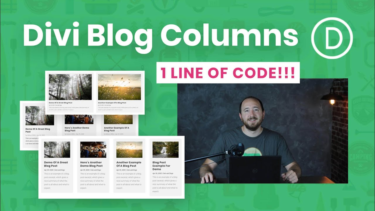 How To Change The Number Of Columns In The Divi Blog Module (Extremely Easy With 1 Line of Code!!!)