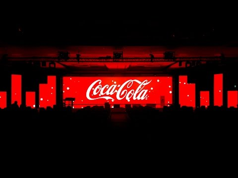 Coca-Cola Conference - Minimalist & Immersive 360 Stage Visuals Projection Mapping Idents by MELT