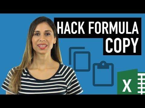 Excel Hack: Copy Formula Without Changing Cell References (or Without File References)