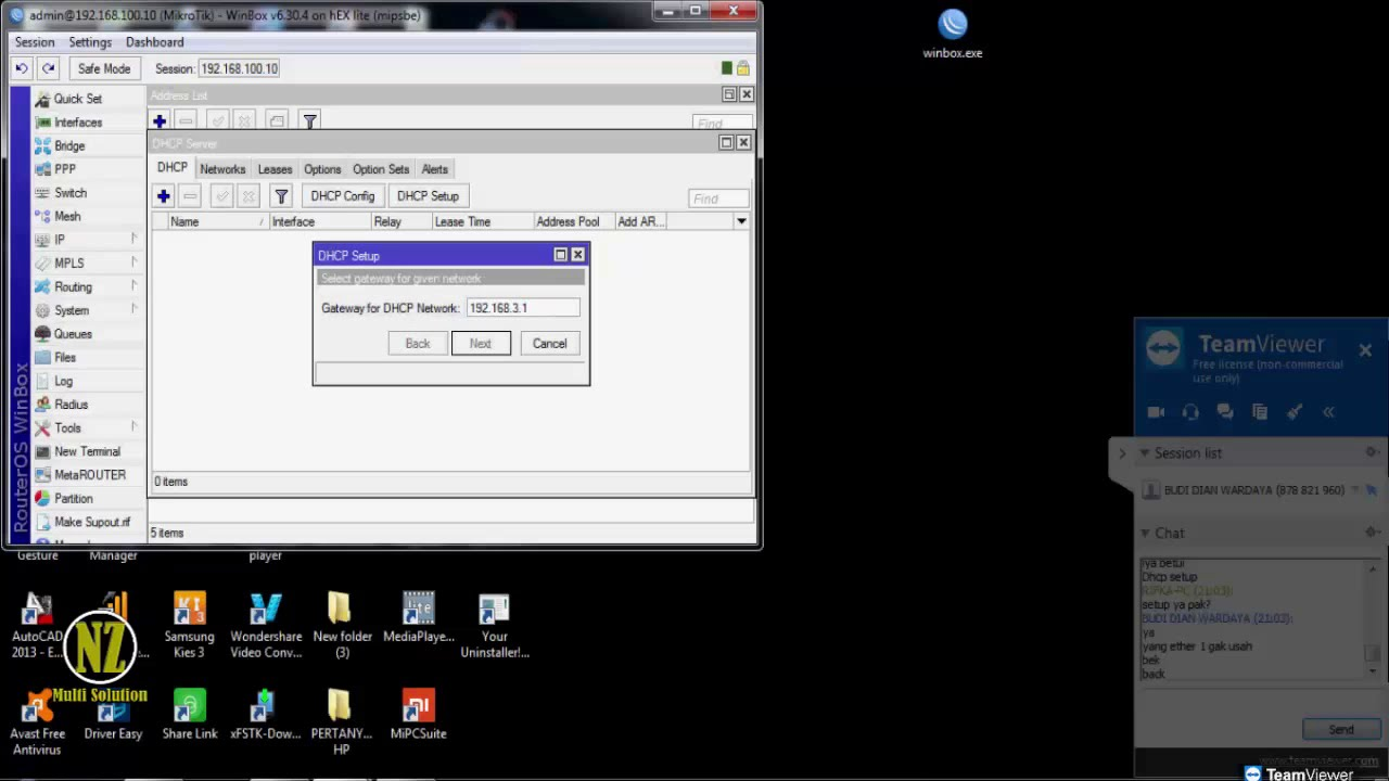 Config Mikrotik Port 2, 3 as LAN Port 4 and 5 for Hotspot Via Remote Desktop