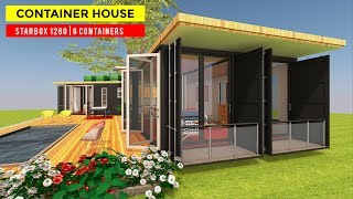 Unique Star-shaped Shipping Container House Floor Plan Design | Starbox 1280