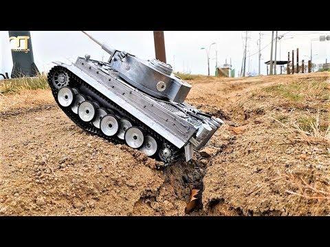 RC TANK Mato Full Metal German Tiger 1 Off-Road Ride