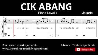 not balok cik abang - piano level 1 - lagu daerah jakarta - sol mi sa si / do re mi
