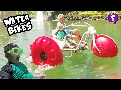 WATER BIKES and SLIDE BLAST in Hawaii - Part 4 with HobbyKidsTV