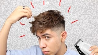 How i cut and style my hair | messy modern fade TUTORIAL