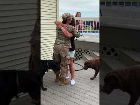 Joey Brooks - Soldier Surprises Her Mother At The Pool