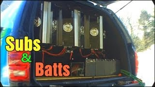 Installing The Inverted Subs | SNOWSTORM & Wiring 8 LOGIC F-31HP Car Audio Batteries & Voice Coils