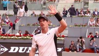 2016 Mutua Madrid Open: Thursday Highlights inc. Murray, Djokovic & Nadal