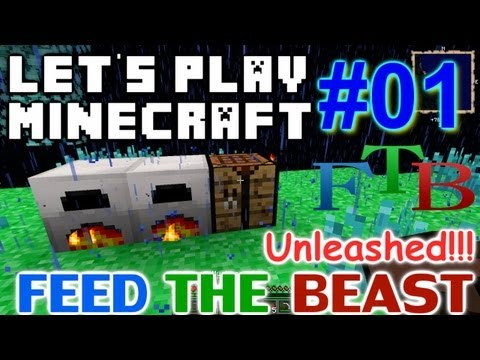 Let's Play Minecraft FTB Hermit Unleashed Ep #1 - Punching Wood like a Pro!!!