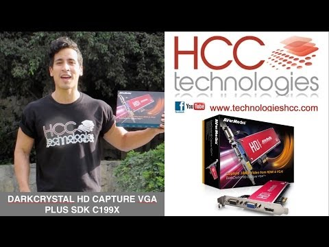 Captura video HD de Alta Precisión VGA HDMI DVI C199x AVerMedia DarkCrystal HD Capture VGA Plus SDK