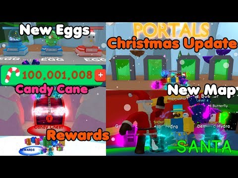 Christmas Update! 100 Million Candy Cane! Unlocked All New Areas! New Eggs - Bubble Gum Simulator