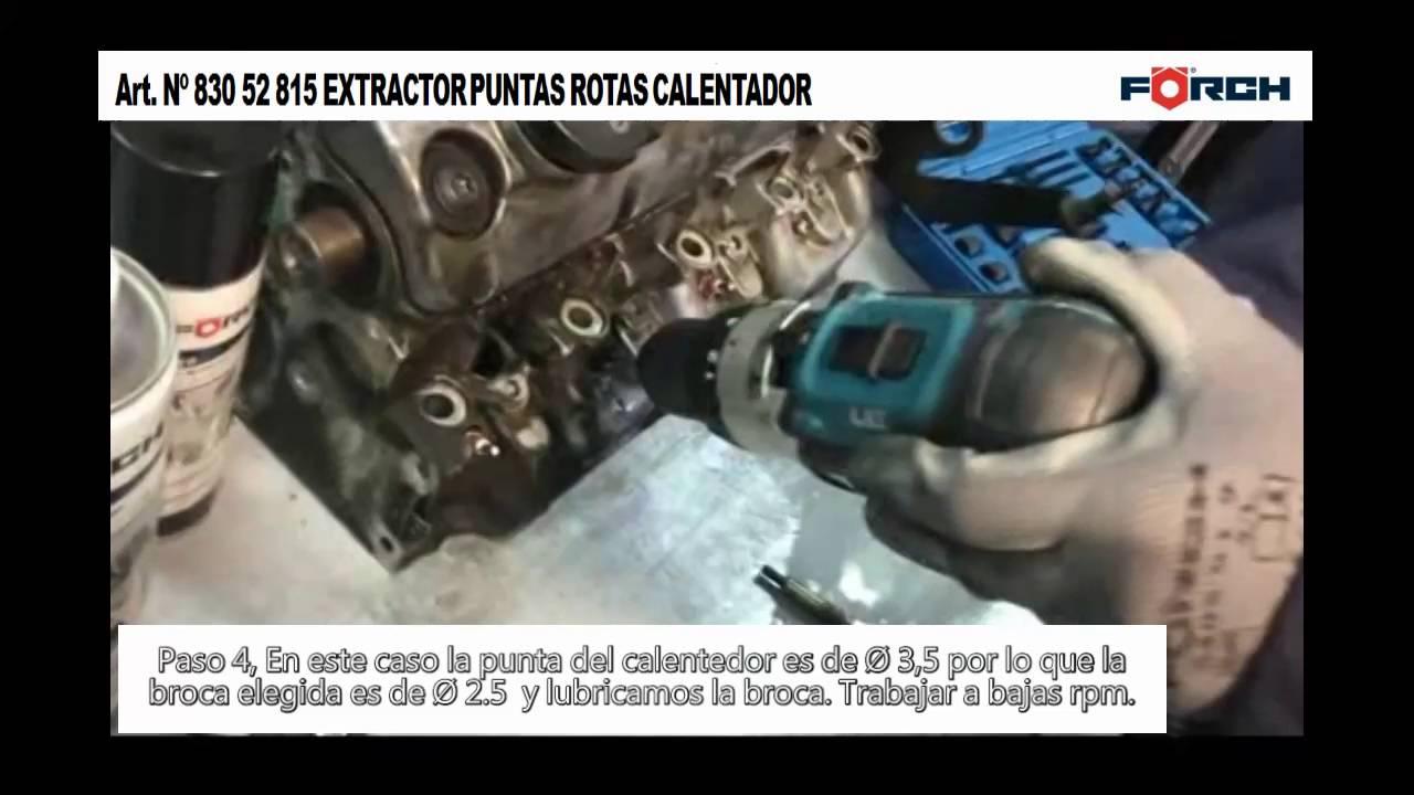 Kit para extraer la punta del electrodo de calentadores Extractores electrodo calentador