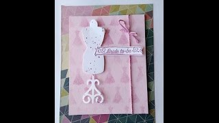 Bridal Shower Card Fashion Dress Form // Stampin' Up & Spellbinders
