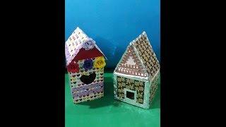 Machen Vogelhaus Mit Waste box step by step | Vogelhaus diy | Wie man Vogel-Haus zu Hause