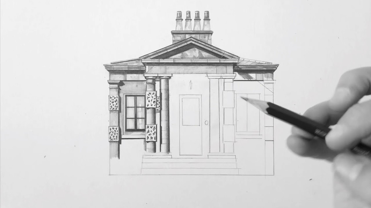 Architectural pencil drawing tutorial