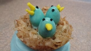 Decorating Cupcakes #87:  Easter Or Spring Bird's Nests