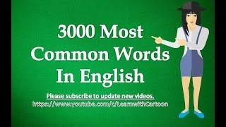 3000 Most Commonly Used English Words