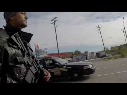 Open Carry on MSNBC - Marching with Rifles in Detroit, MI