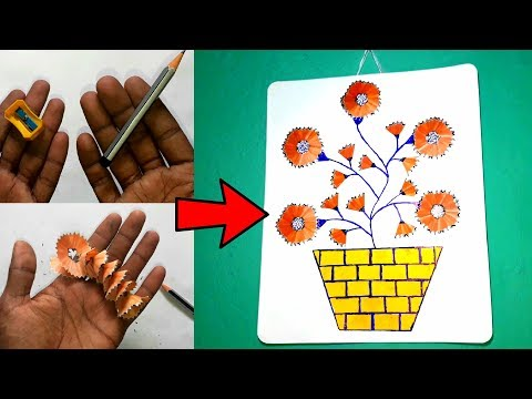 best-way-to-use-waste-pencil.-pencil-shaving-art-and-craft.unique-art,pencil-waste-art.