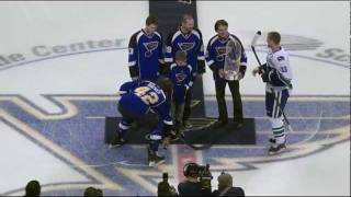 Sharks vs Blues: St Louis Cardinals Ceremonial Puck Drop - Fox Midwest