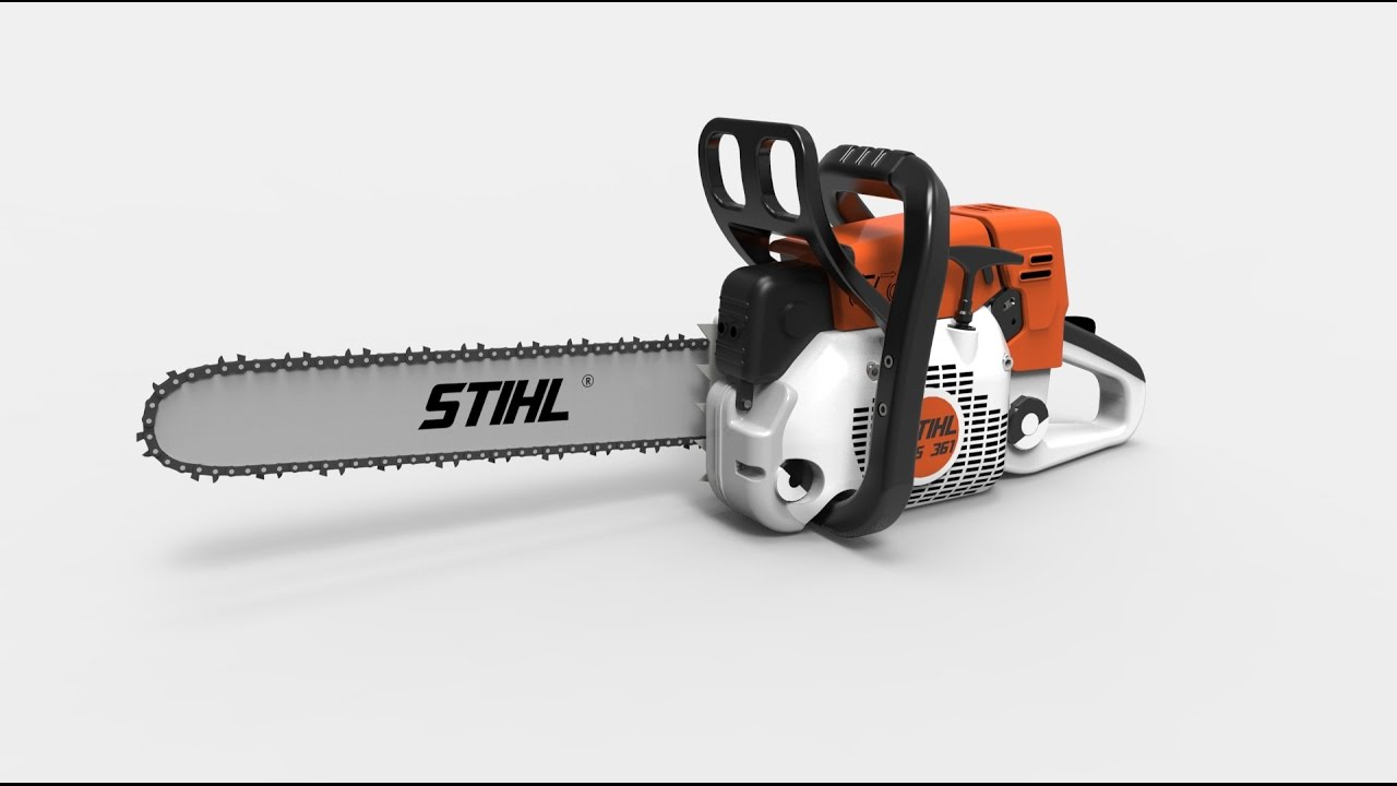 Stihl Ms361 Professional Chainsaw Solidworks Model