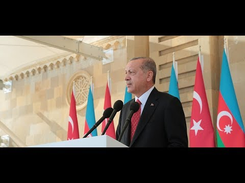 Cumhurbaşkanımız Erdoğan, Bakü Zaferi'nin 100. yıl kutlama töreninde konuştu