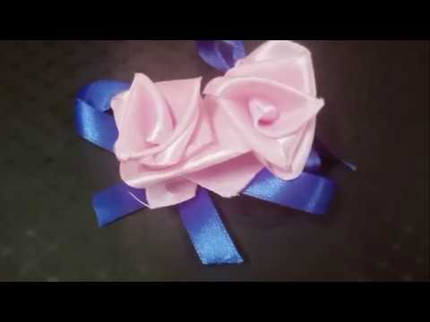 DIY EASY FLOWER MAKING WITH SATIN RIBBON    EASY CRAFTS
