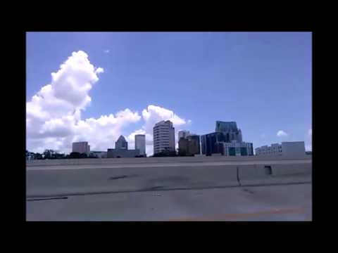 Driving around Downtown Tampa, FL August 2017