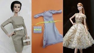 2 party diy clothes for dolls ???????? DIY Barbie Clothes Life Hacks ???? Barbie Tutorial