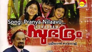 Pranaya nilaavu - Subadram