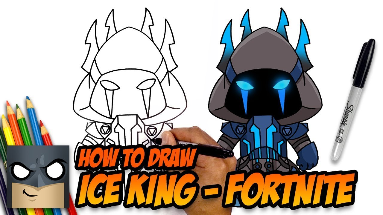 How To Draw Ice King Fortnite Step By Step Tutorial Youtube