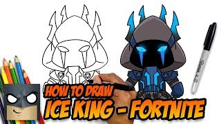 How to Draw Fortnite | Ice King | Step-by-Step