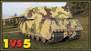 Maus - 11 Kills - 1 VS 5 - World of Tanks Gameplay
